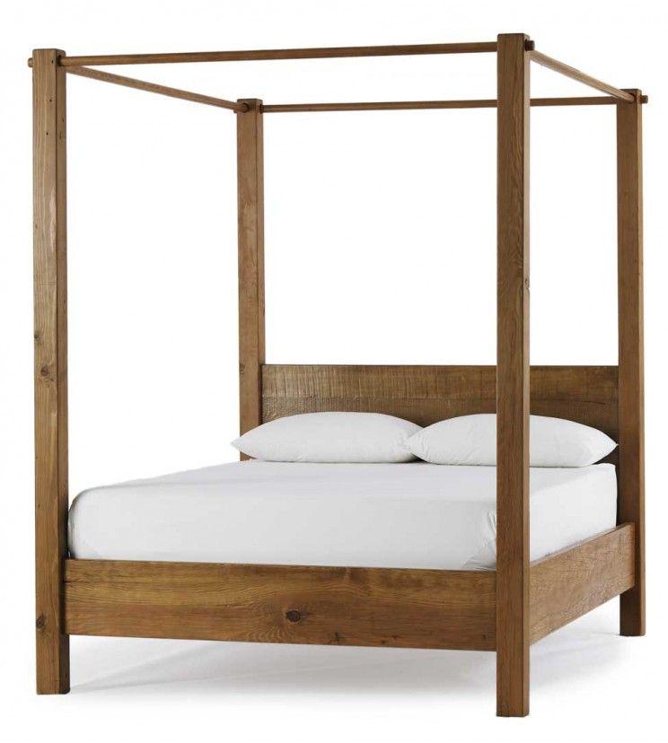 Vivaterra Vintage Fir Canopy Bed