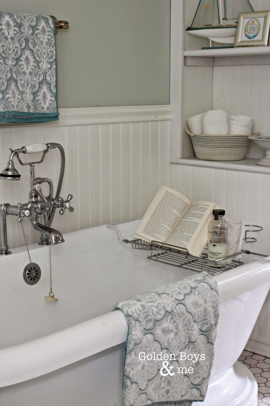 Keepin\' it real in our master bath | Pedestal tub, Master bathrooms ...