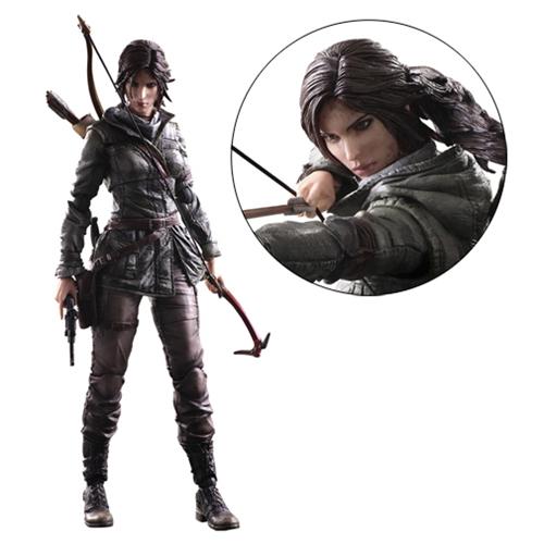 Rise Of The Tomb Raider Lara Croft Play Arts Kai Action Figure Play Arts Kai Action Figures Tomb Raider Tomb Raider Lara Croft