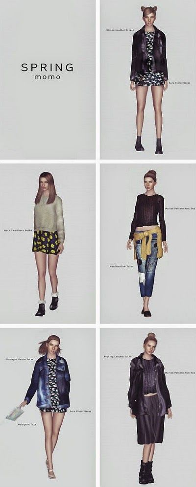 My Sims 3 Blog: Spring Collection by Momosims | Sims 3 CC