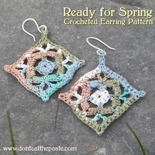 Dont eat the paste ready for spring crocheted earrings jewelry nothing spruces up your mood like a new pair of earrings i bet you can crochet these ready for spring crocheted earrings in just an evening with the free dt1010fo