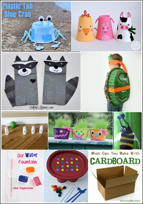 Recycled Crafts for Kids #911craftsfortoddlers Upcycled - Recycled Crafts for Kids #BewitchinProjects #911craftsfortoddlers