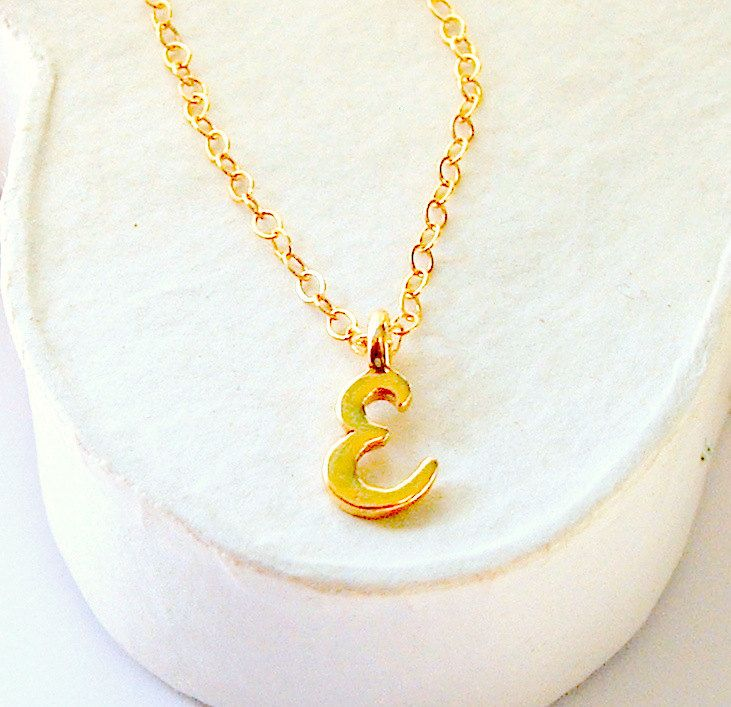 c59c06bc50fa1 Letter D Necklace Initial D Necklace Tiny Gold Charm Tiny Gold ...