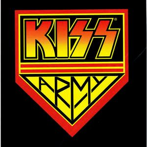 Kiss Army Logo The Official Fan Club For The American Rock Band Kiss As Well As The Unofficial Name Used To Refer To Kiss F Kiss Army Kiss Stickers Kiss Logo