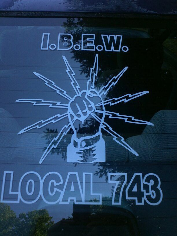 IBEW Electrician Decals Customized With Your Local Union - Custom vinyl stickers canada   the advantages