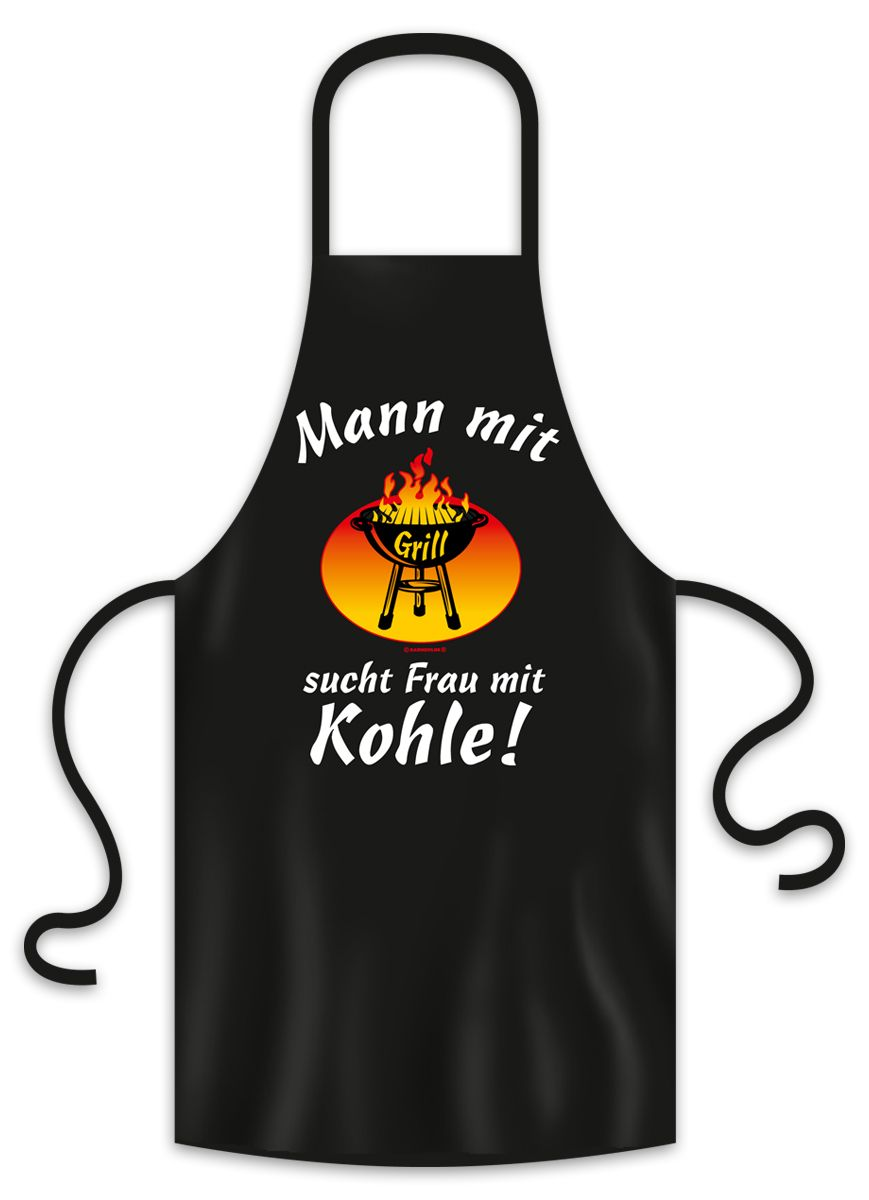 Grillschürze mann mit grill sucht frau mit kohle
