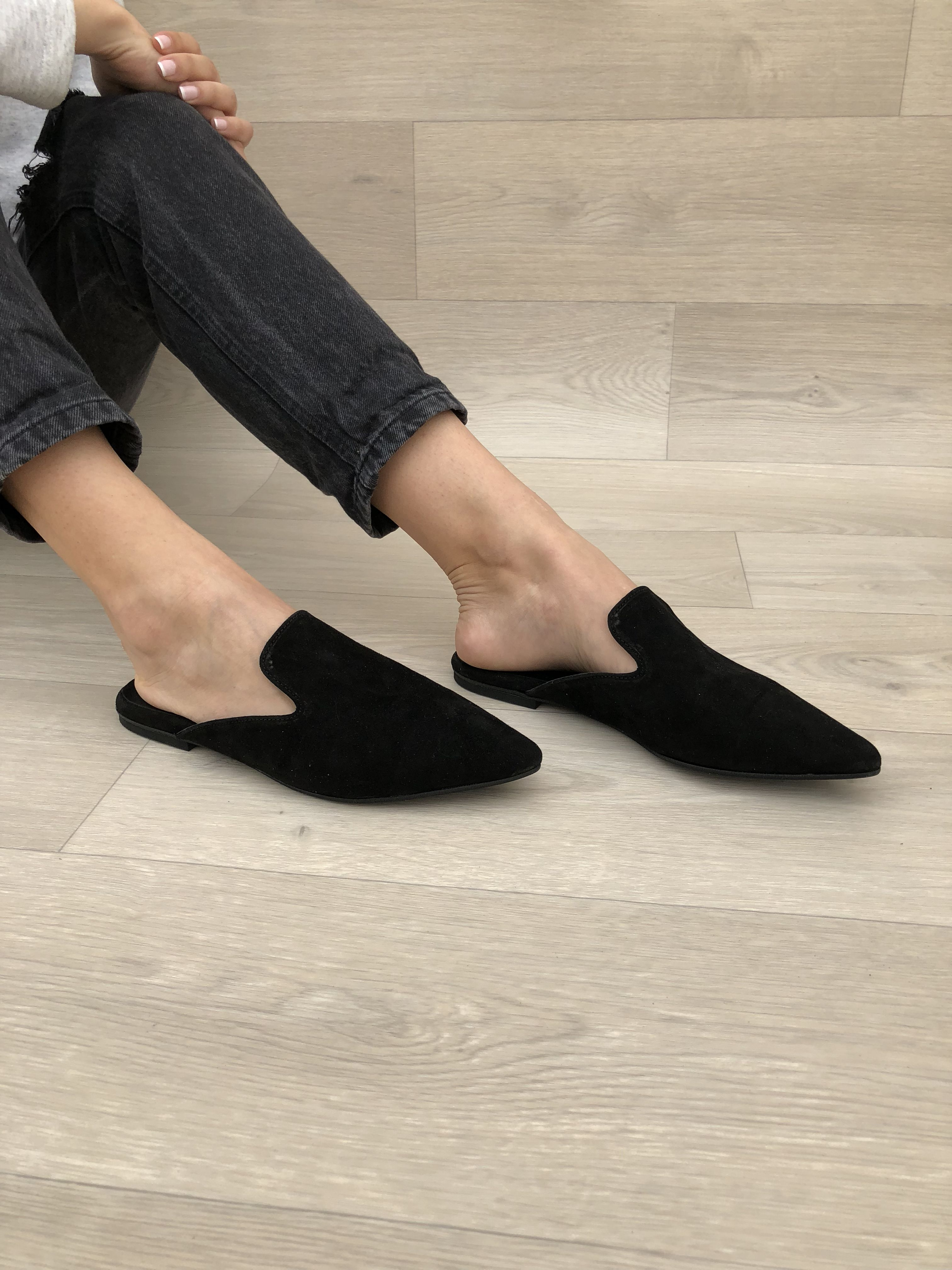 Suede mules, Leather sandals