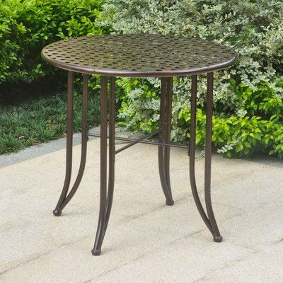 Alcott Hill Dalmatia Bistro Table Finish: Hammered Bronze