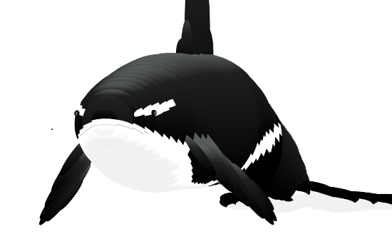 this digital whale will follow your mouse pointer around fun
