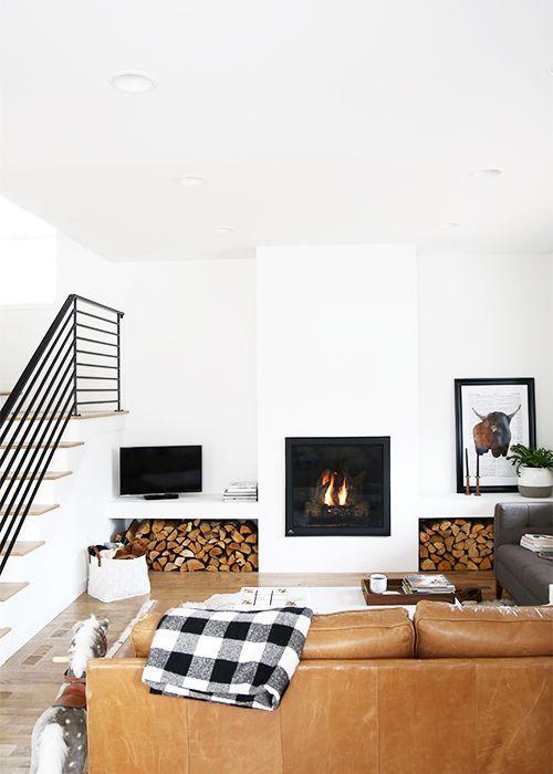 Cozy Modern Living Room The Faux Martha Modern Farmhouse