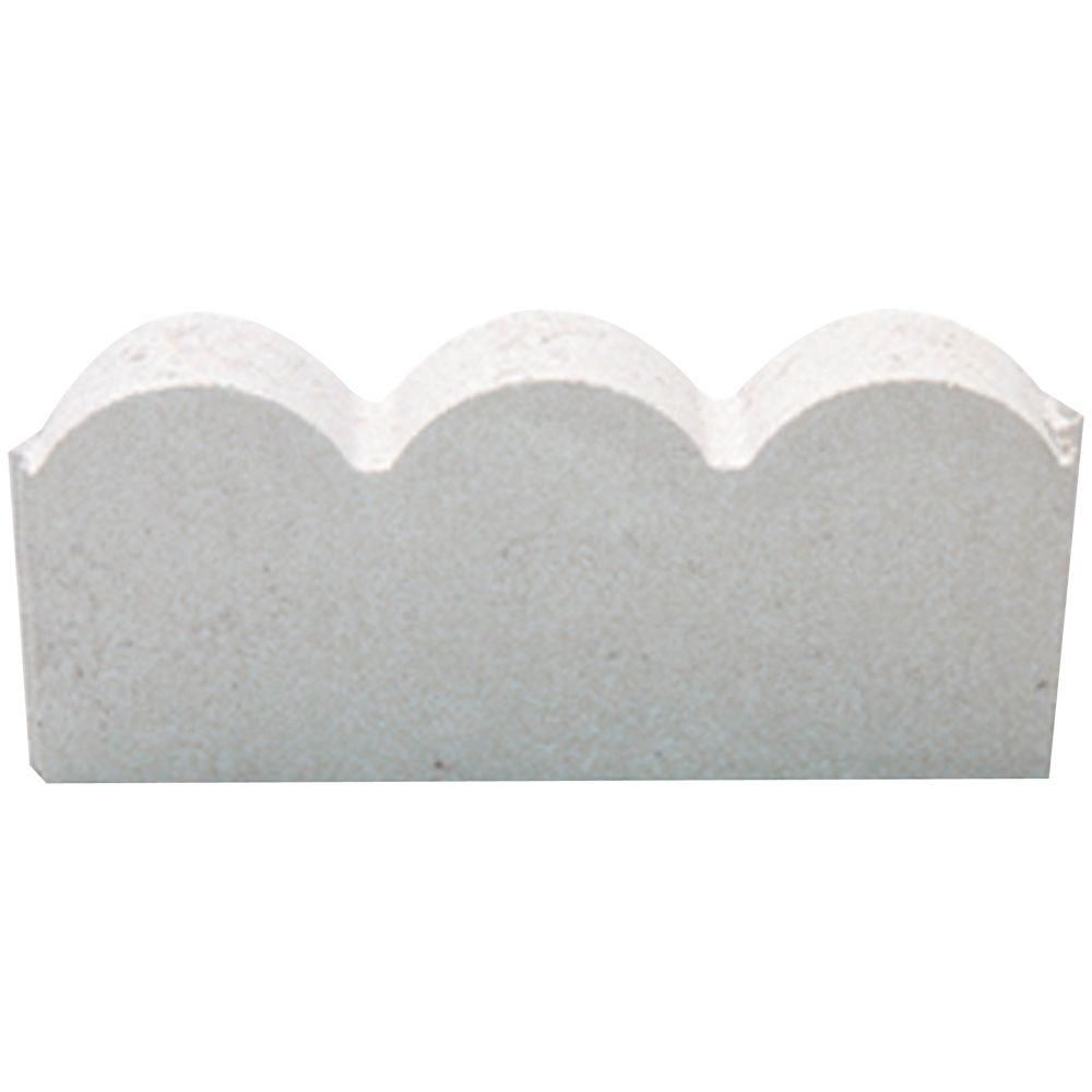 12 In X 2 In X 5 25 In Straight Scallop White Concrete Edging 74810 The Home Depot In 2020 Concrete Edging Flower Bed Edging Brick Edging