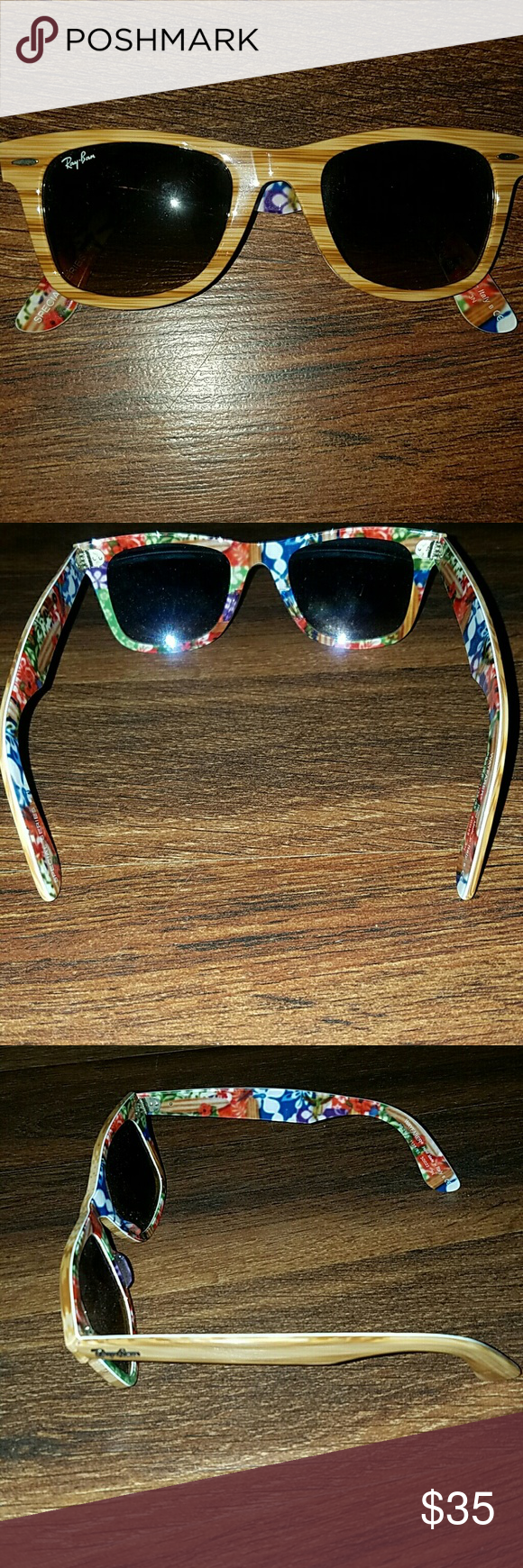 RayBan Sunglasses with Case only worn a couple times. perfect condition! Ray-Ban Accessories Sunglasses