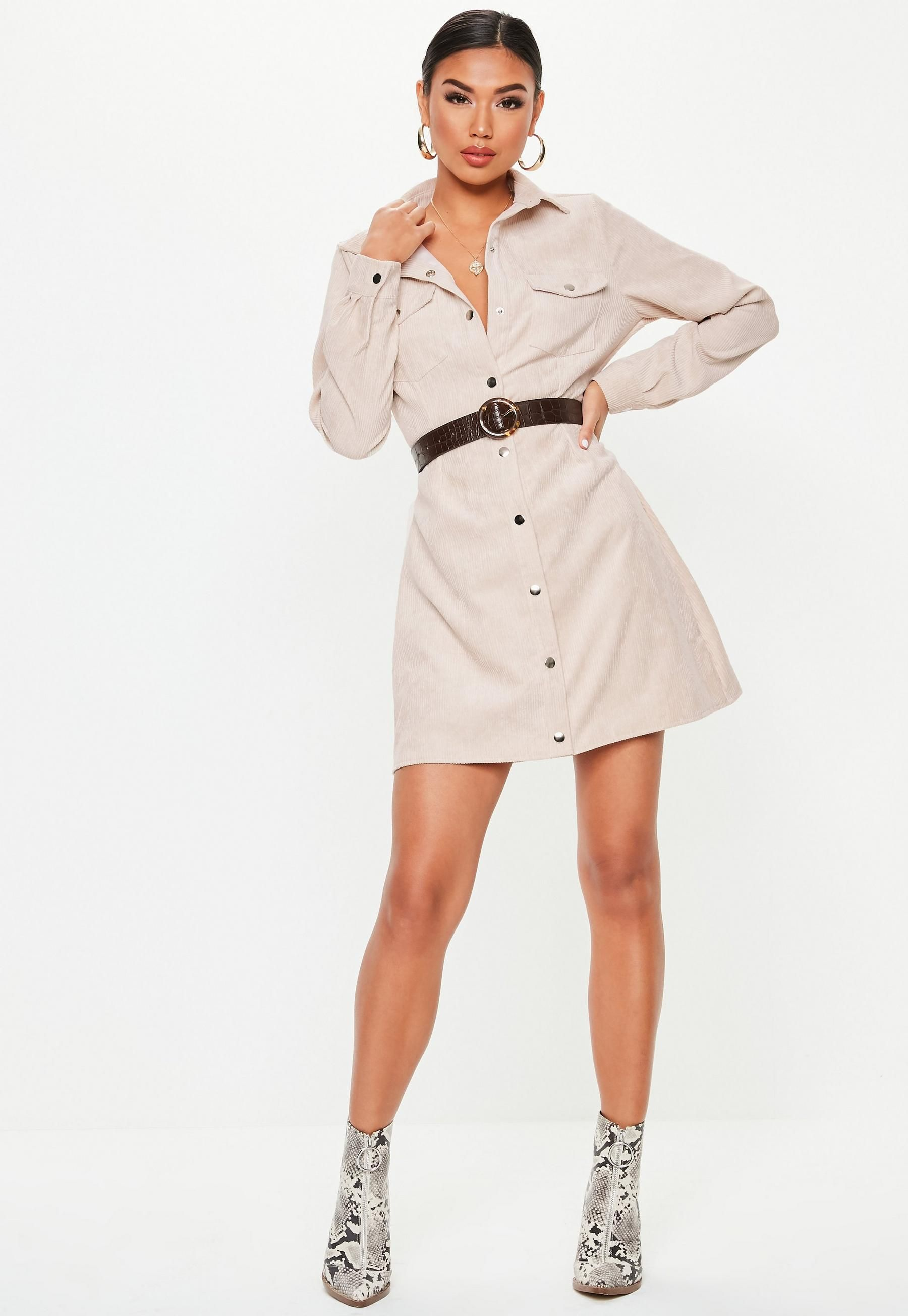 a2c5cfe040 Stone Cord Skater Shirt Dress in 2019