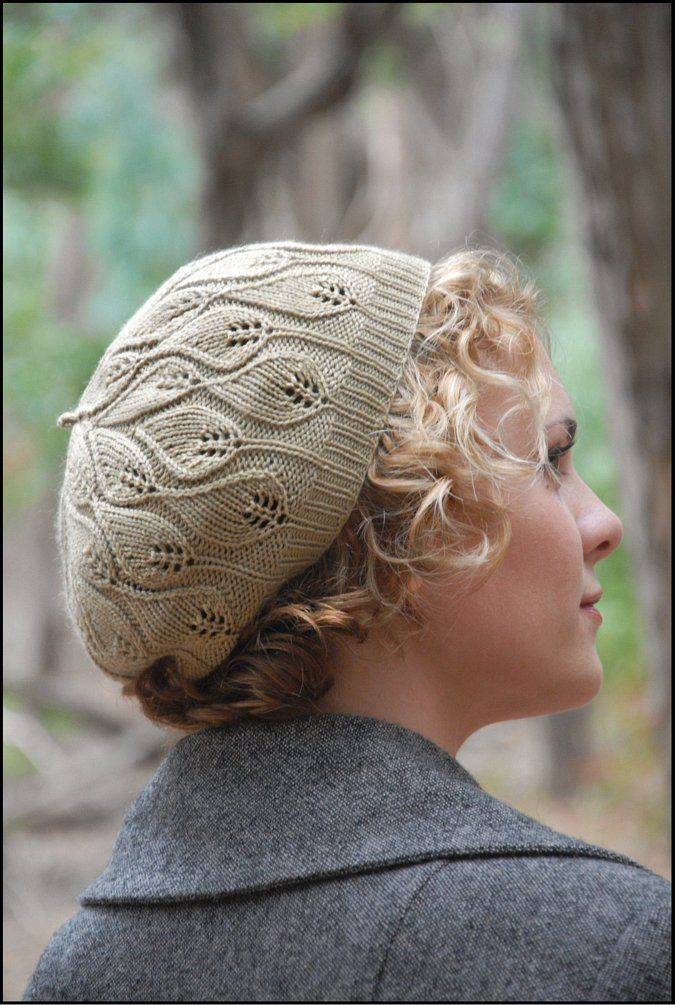 Alana Dakos - knit leaf pattern hat   HATs   Pinterest