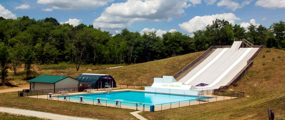 Ohio Dreams Action Sports Camp Skate Bmx Ski Scooter Slip N Fly Water Slide In An Aerated