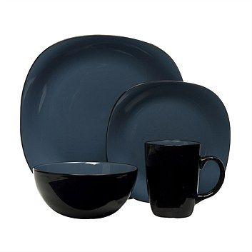 34e67e7cf8bd Dinner Sets - Dining & Entertaining - Briscoes - Thompson Bali Blue 16 Piece  Stoneware Dinnerset