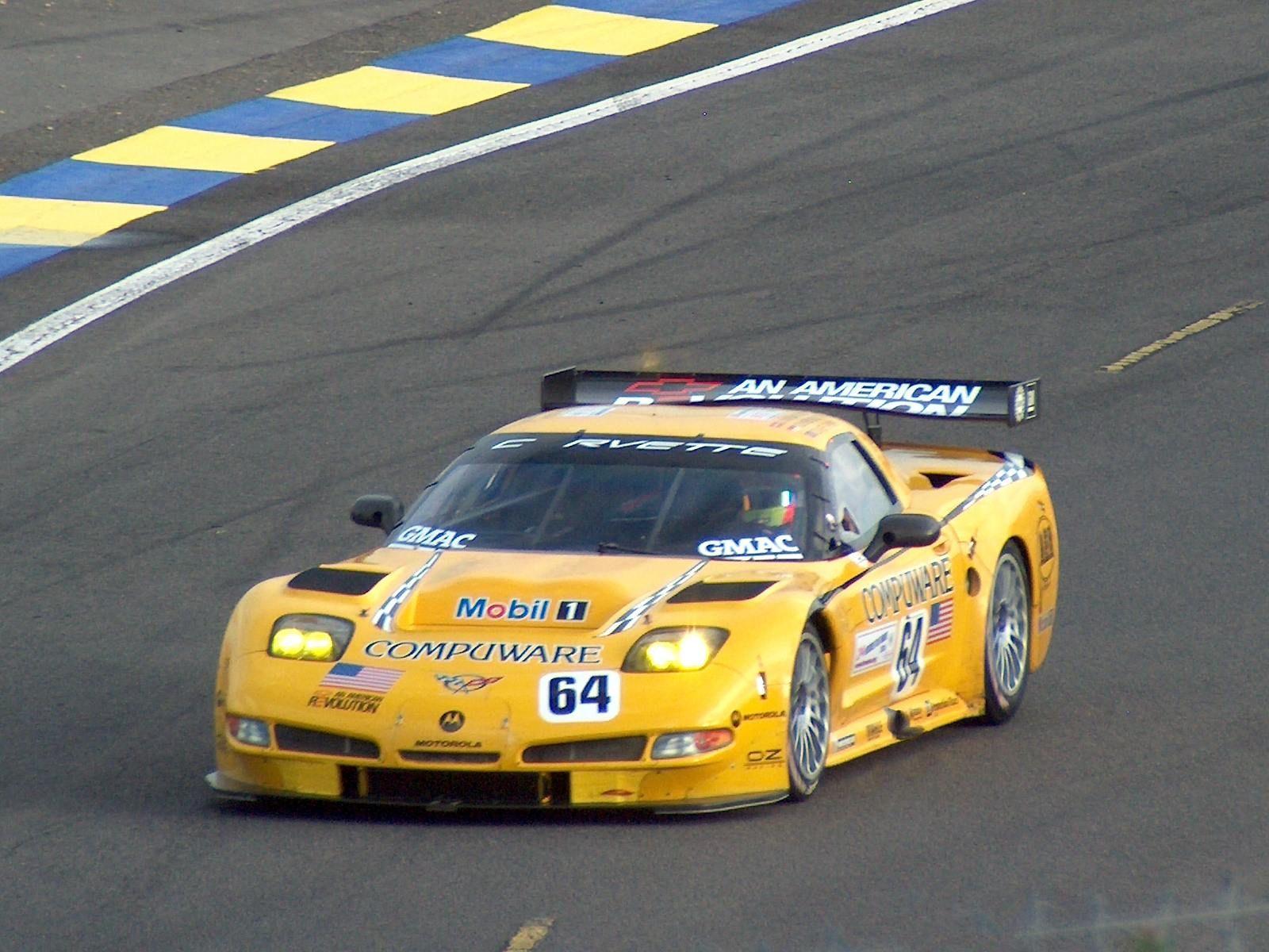 The 2004 Chevrolet Corvette C5 R wins the 2004 24 Hours at Le Mans