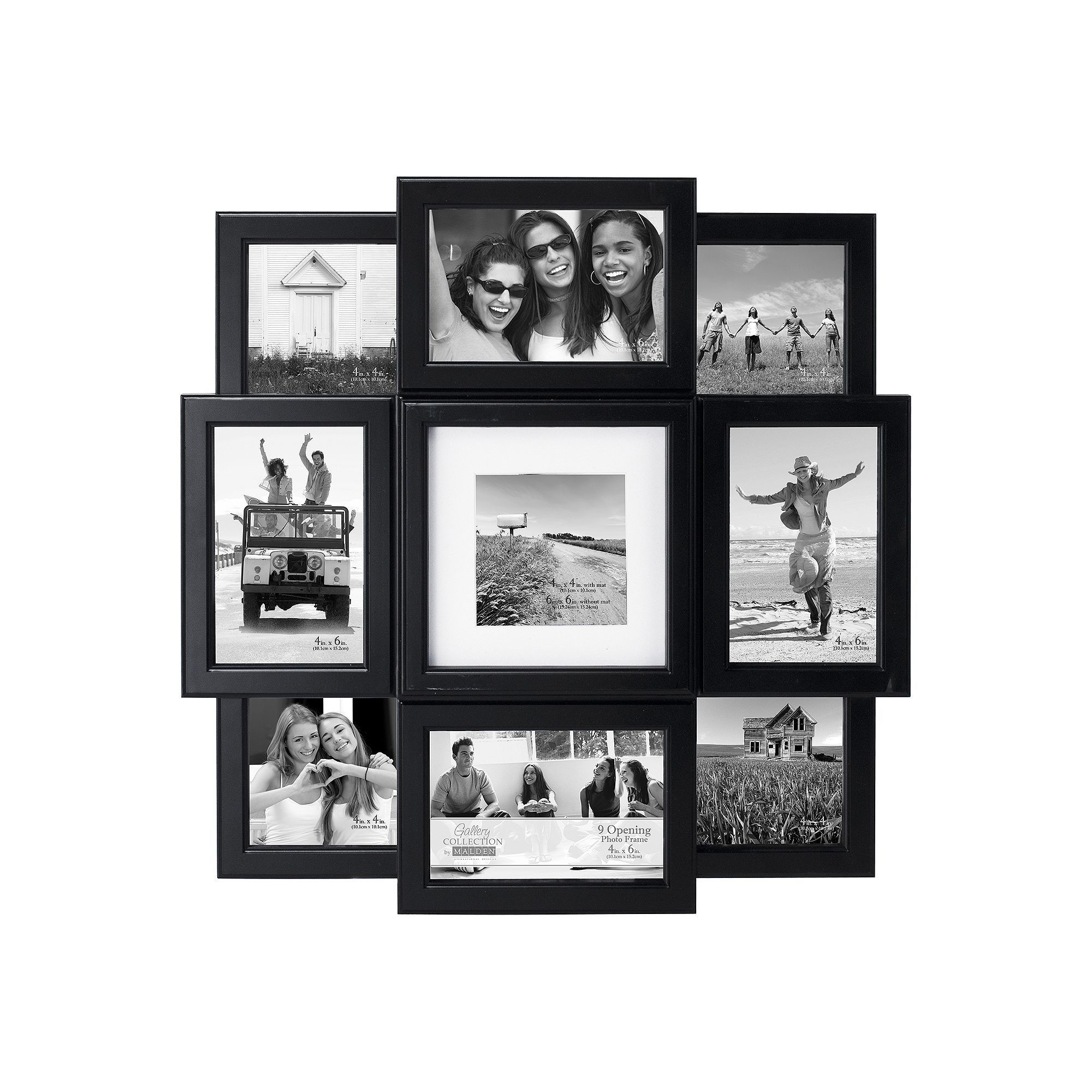 Malden 9-Opening Collage Frame, Black | Pinterest | Products
