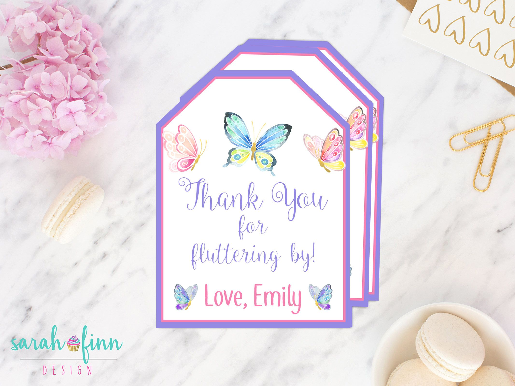 Butterfly Favor Tags Butterfly Birthday Butterfly Party Favour