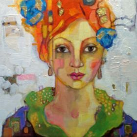 girl with blue rose and orange hair darko p p pinterest buy