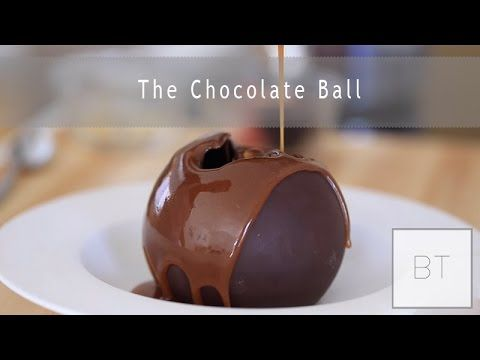 He Pours Hot Caramel Over This Chocolate Ball. As It Melts ...