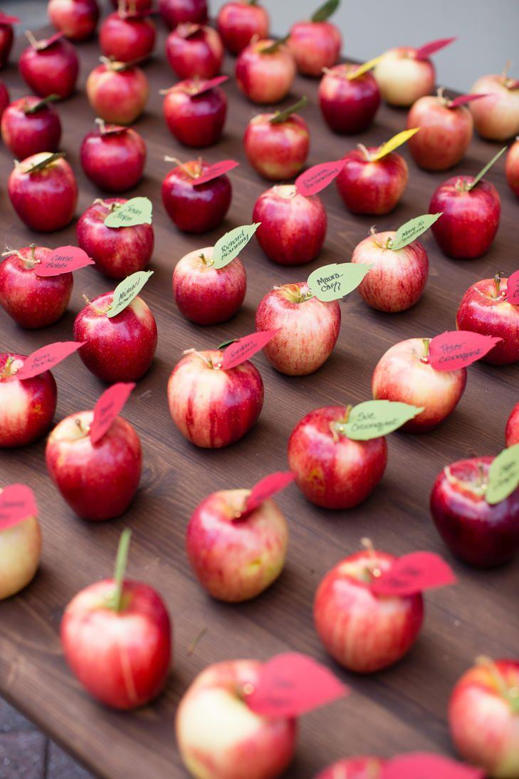 Apples As Escort Cards Winter Wedding Pinterest Carmel Valley