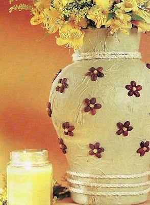 jarrones de papel decorados buscar con google vasos pinterest bsqueda