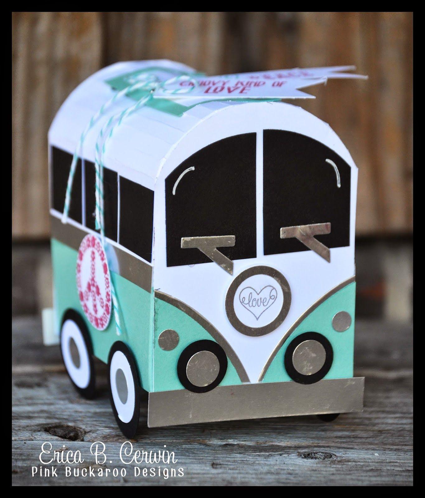 Pink Buckaroo Designs VW Love Bus Candy Holder