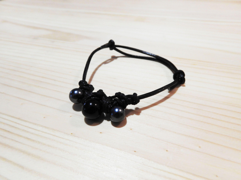 Cadeau de No l Bracelet Cadeau Bracelet noir charcoal Bracelet noir