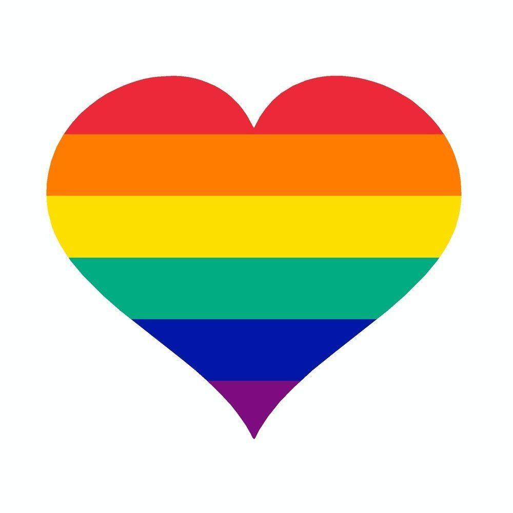LGBT Pride Rainbow Heart Vinyl Car Sticker LGBTQ Pride