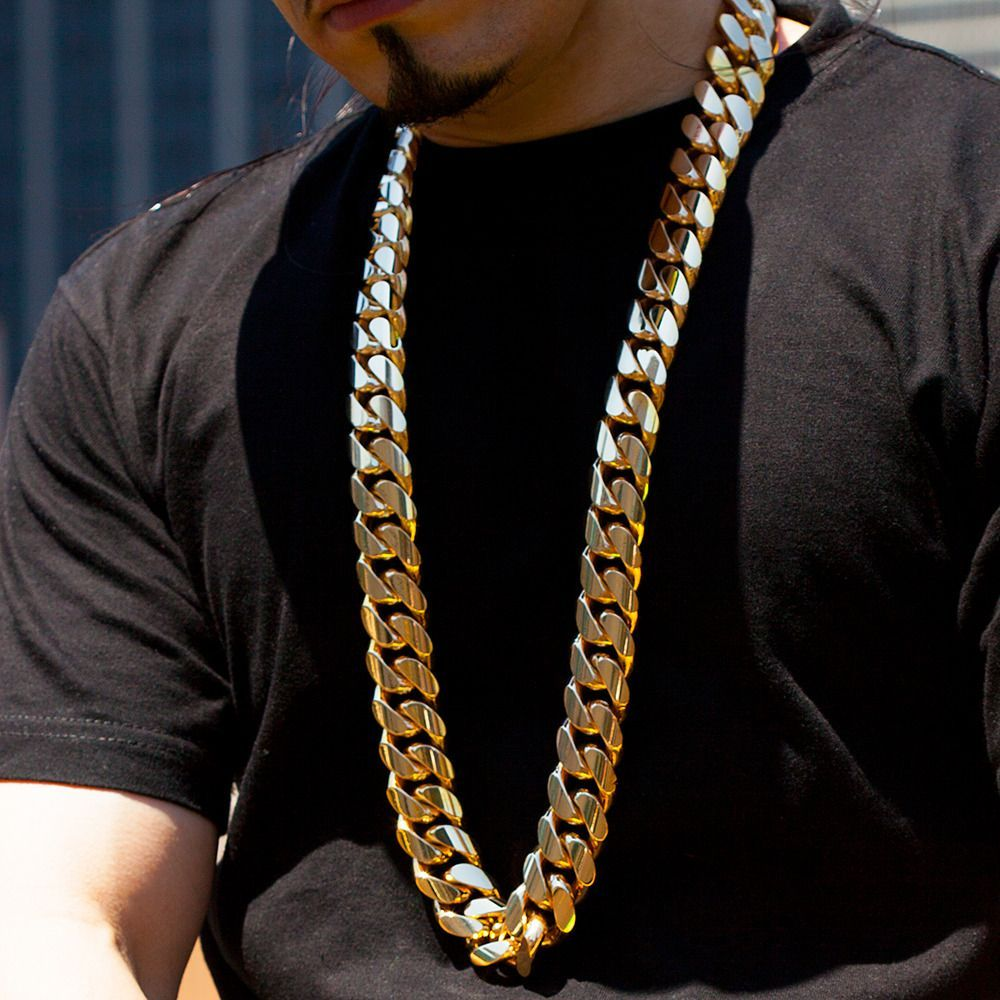 kilo miami cuban link chain k solid gold necklace gold