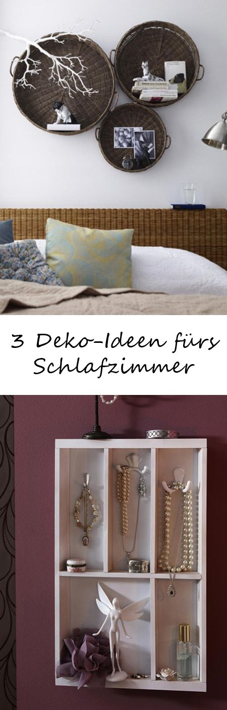drei deko ideen f rs schlafzimmer schlafzimmer pinterest diy ideas decoration and bedrooms. Black Bedroom Furniture Sets. Home Design Ideas