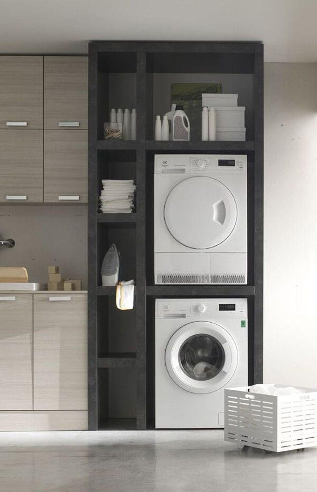 Closet Laundry Room Ideas Stackable