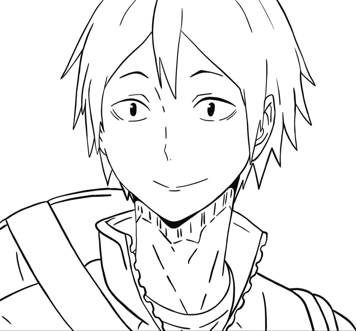 Yamaguchi Coloring Page 1 Anime Drawings Sketches Anime Character Drawing Anime Drawings