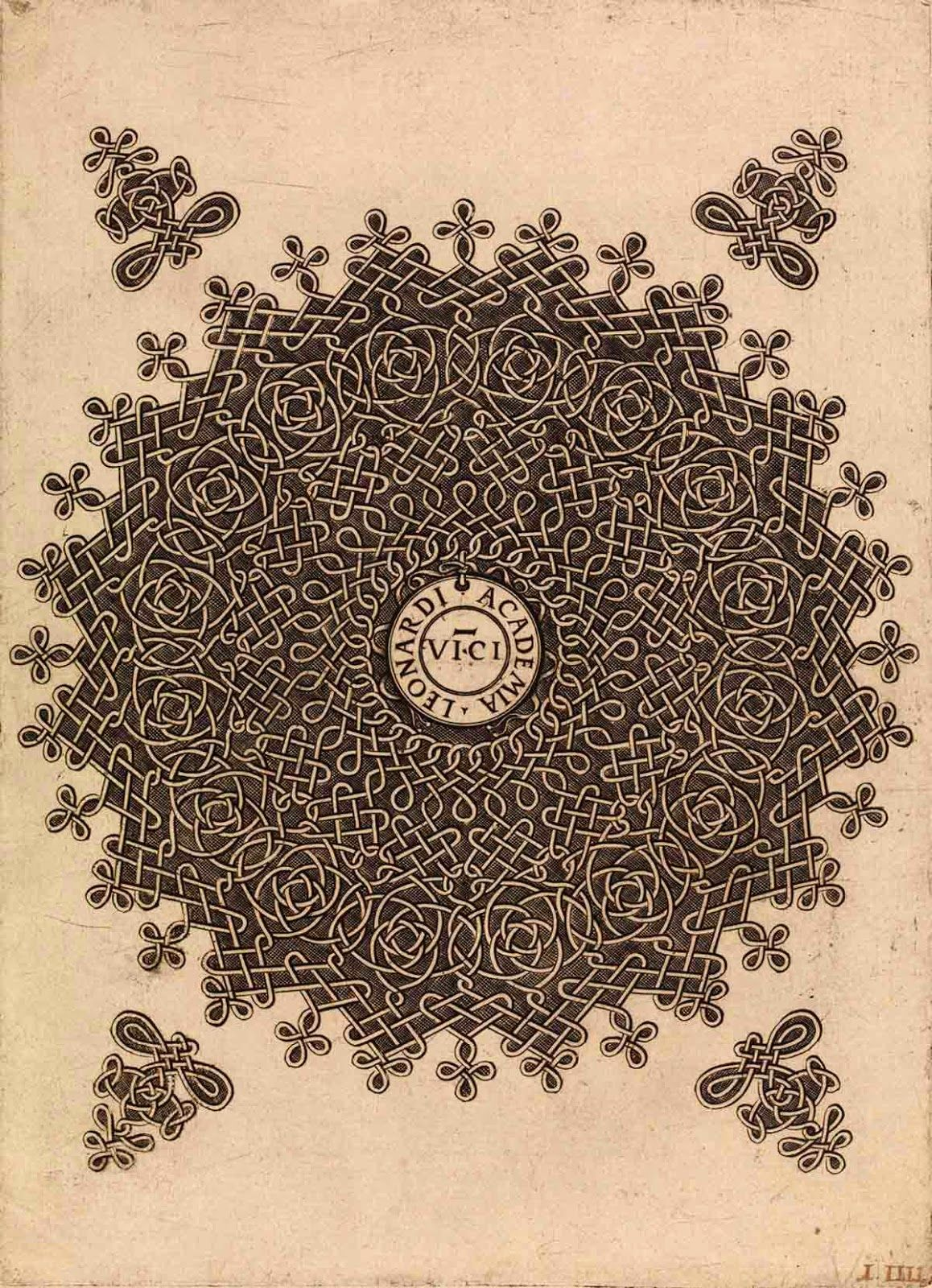 (Leonardo da Vinci Academy) Knot pattern after Leonardo da Vinci about 1495 engraving 29 x 21 cm British Museum, London