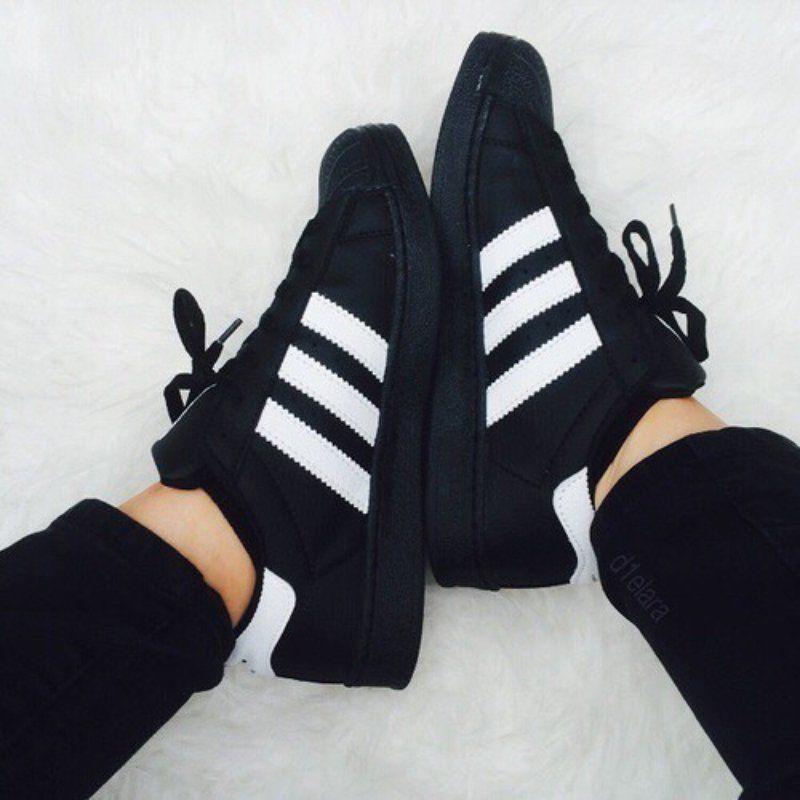 botines adidas superstar negro