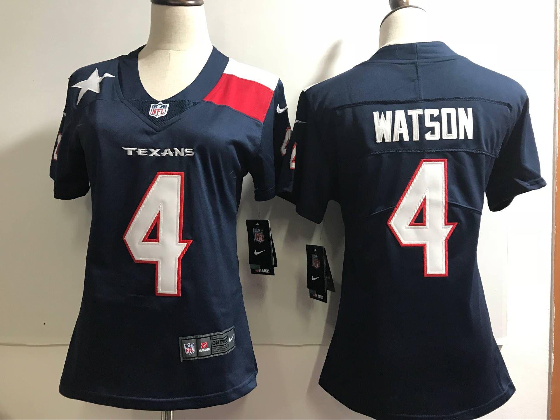 best service e90e4 9e436 Women Houston Texans 4 Watson Blue Nike Color Rush Limited ...