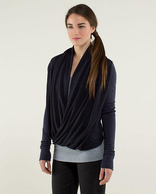4601b4e6f7 Lululemon Iconic Sweater Wrap cadet blue black. Size 2  128 EUC. Selling  for  95 plus shipping
