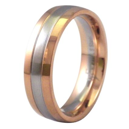 Rose Gold Silver Tone Ring Stainless Steel Wedding Band And Weddings
