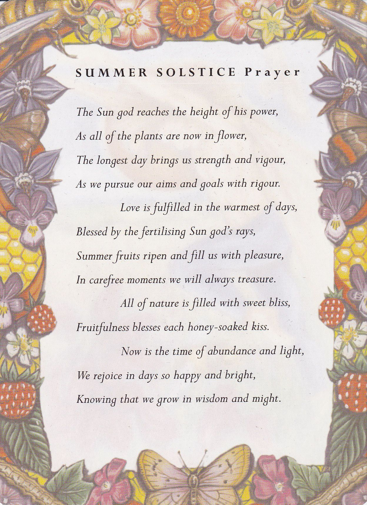 Summer Solstice Summer Solstice Prayer Summer