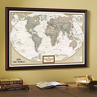 National geographic my world personalized map earth toned world executive map antique tones two sizes and spanish available map type enlarged tubed x national geographic maps gumiabroncs Gallery