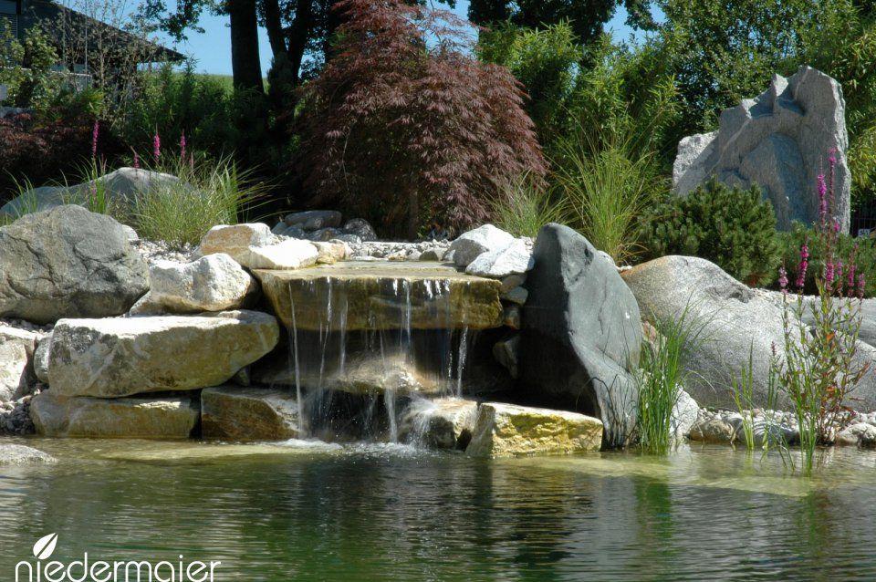 Bache Becken Und Zierteiche Gartenideen Niedermaier Garten Freiraume Gmbh Purfing Vaterstetten Bei Munchen Garten Naturschwimmbader Wasser Im Garten