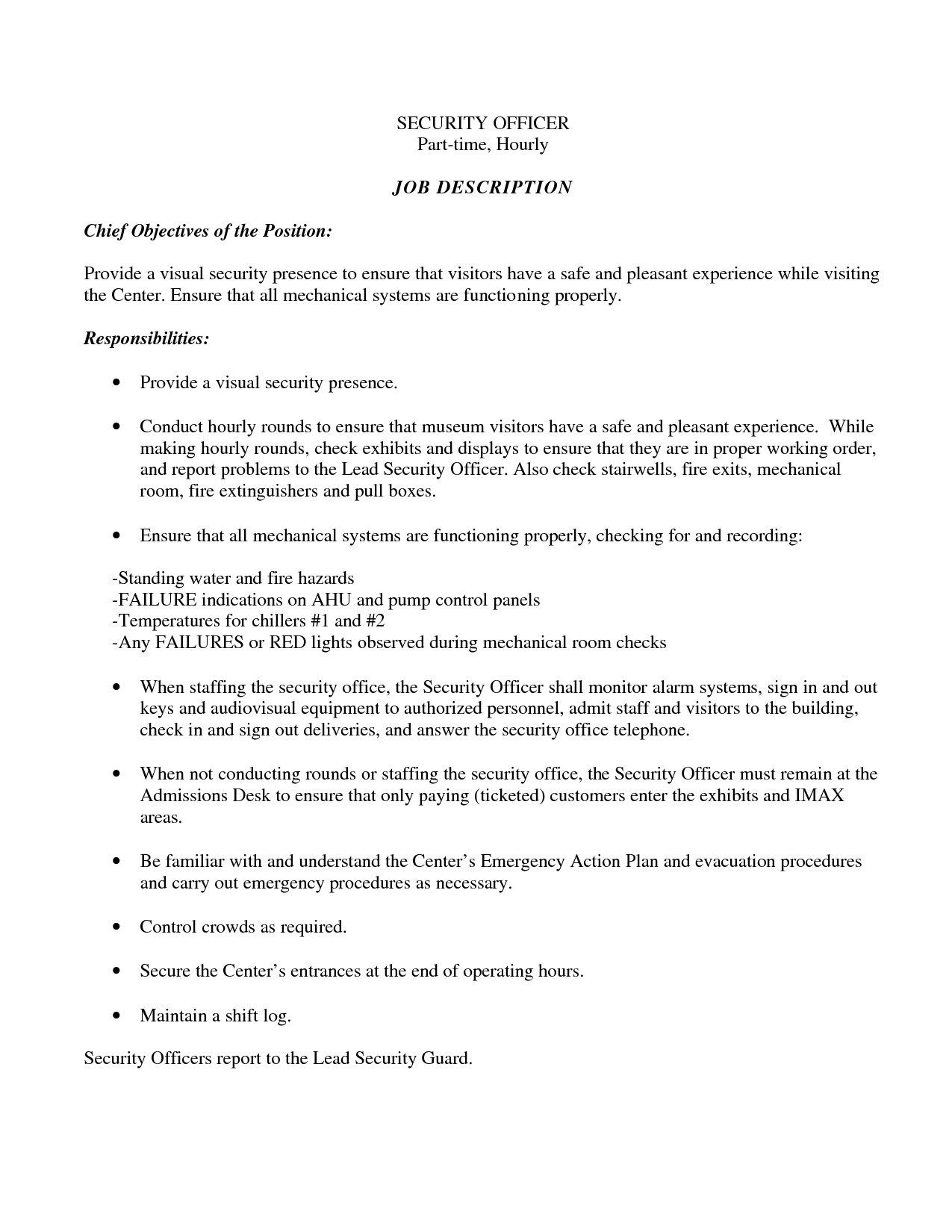 Easy Resume Tips Objective To Follow Security Resume Job Resume Examples Job Resume Samples