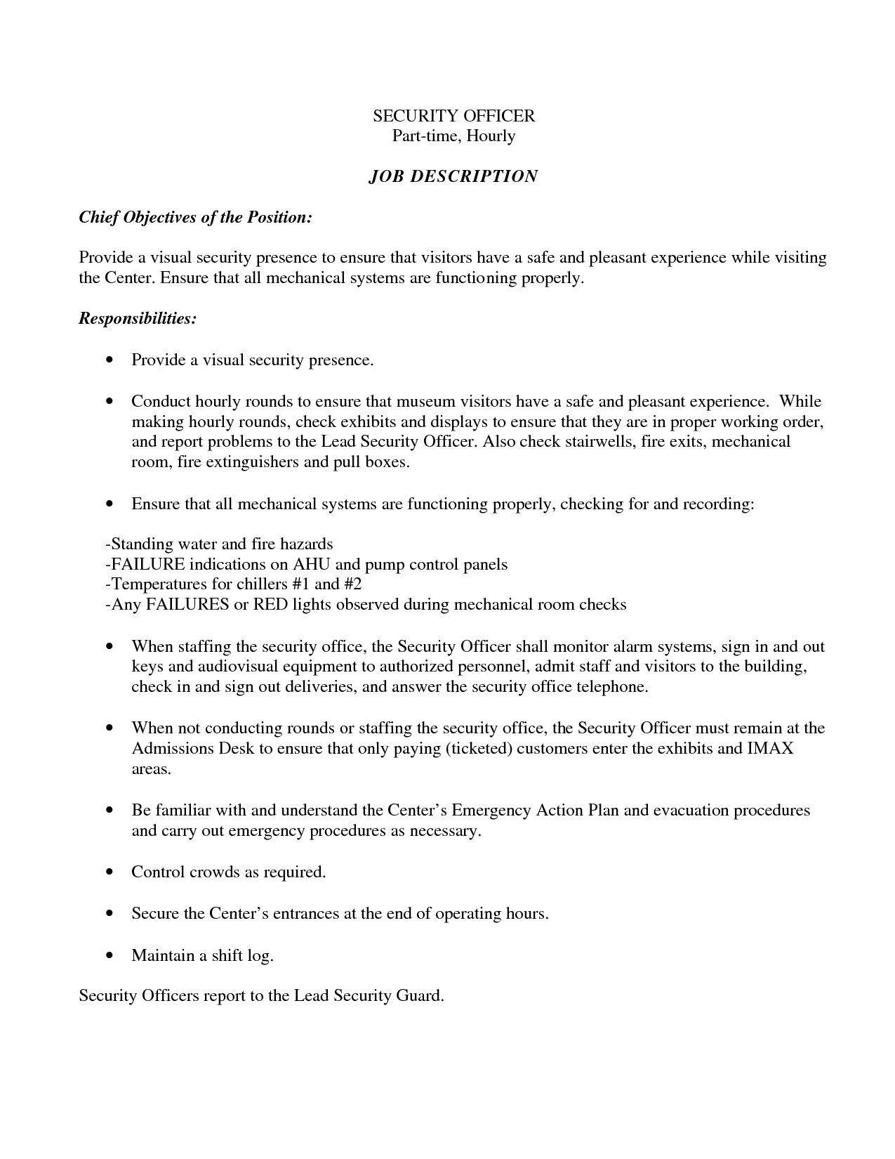 Easy Resume Tips Objective To Follow Job Resume Resume Objective Security Resume