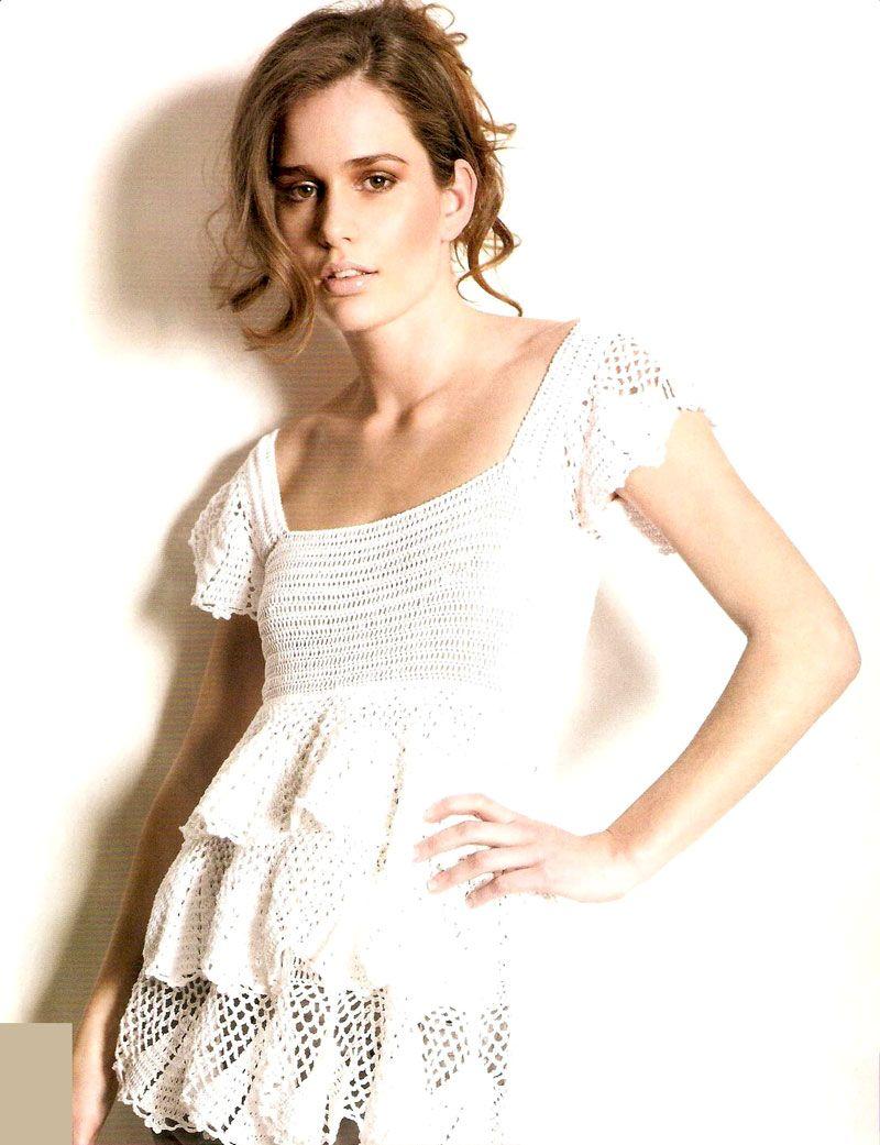Remera Calada de mangas Cortas a Crochet | Cosas lindas para tejer ...