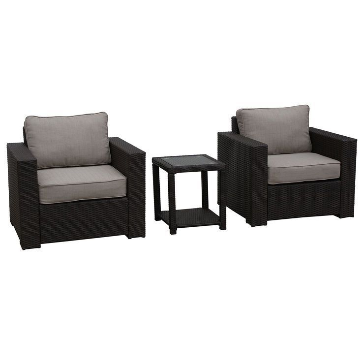 San Clemente 3 Piece Wicker Chair and Table Set $599 99 at At Home