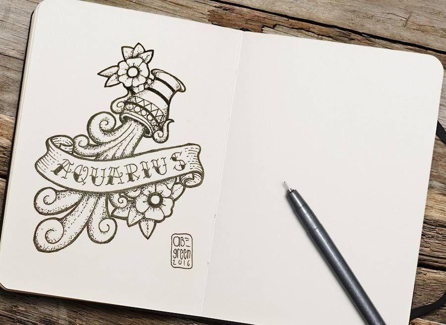 Old School Zodiac Signs Tattoos-1 – Fubiz Media