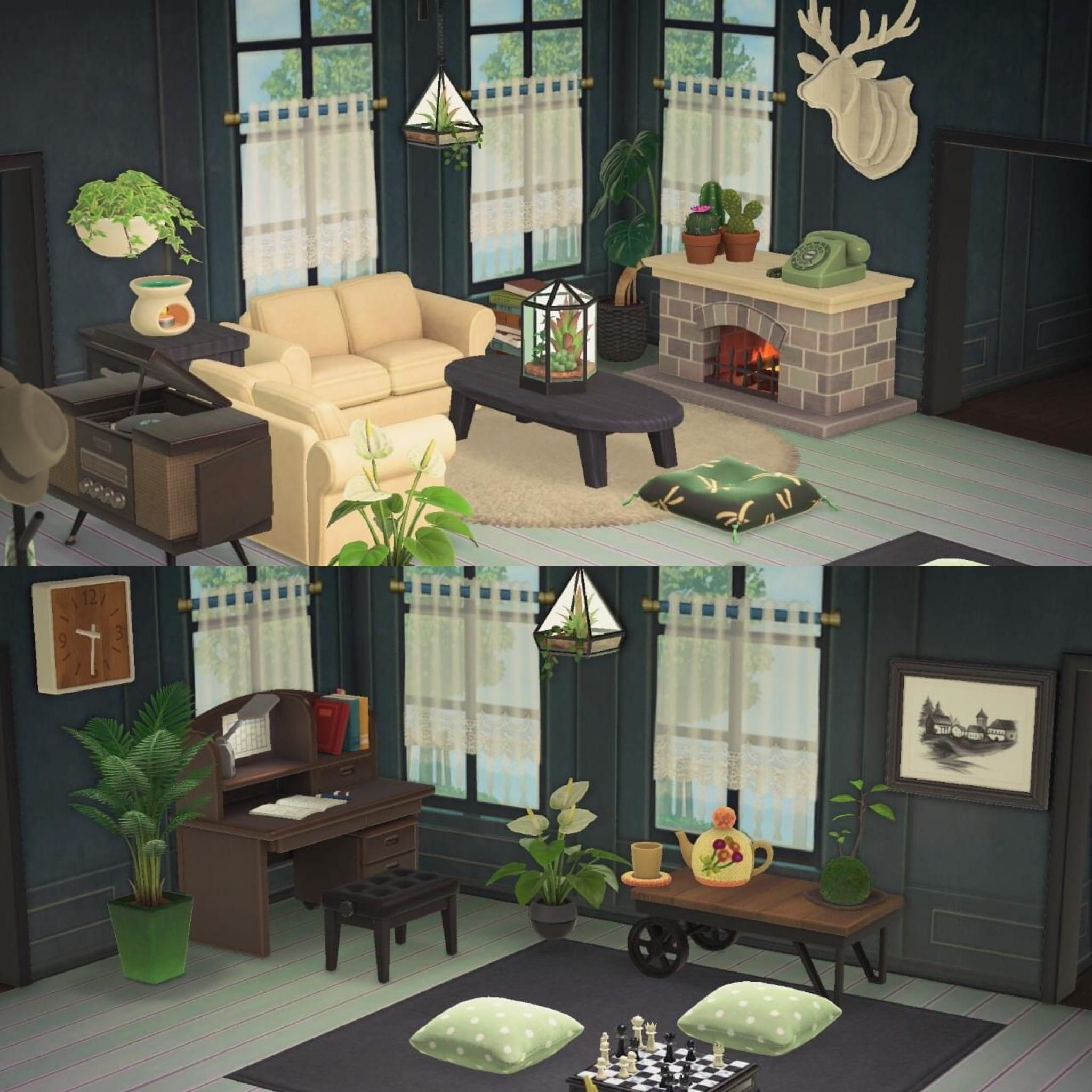 Acnh Living Room By U Lil Gingerale On Reddit In 2020 ... on Animal Crossing New Horizon Living Room Ideas  id=94217