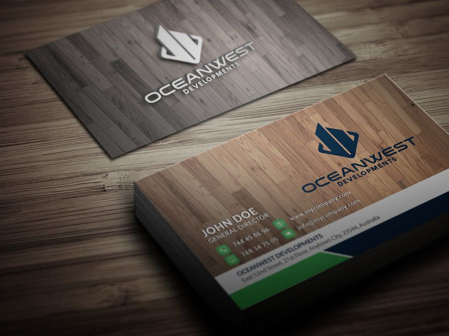 We Require The Design For A Company Logo And Business Card For A New Building Company In Austra Business Card Texture Wooden Business Card Cool Business Cards