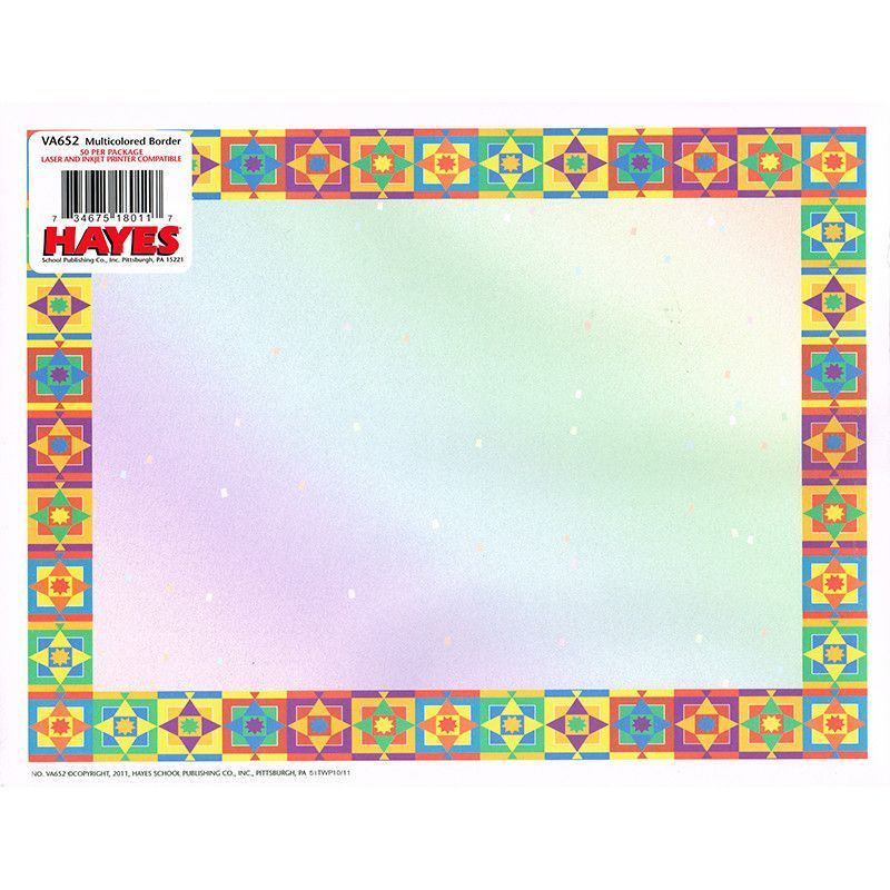 multicolored border certificate vbs pinterest certificate